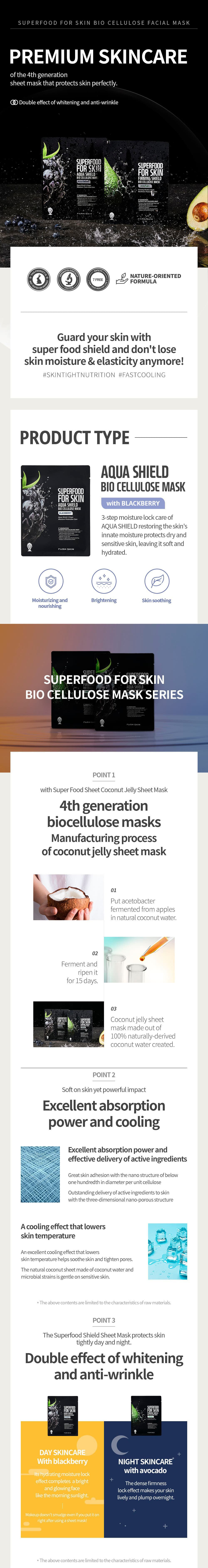 Superfood For Skin Firming Shield Bio Cellulose Mask